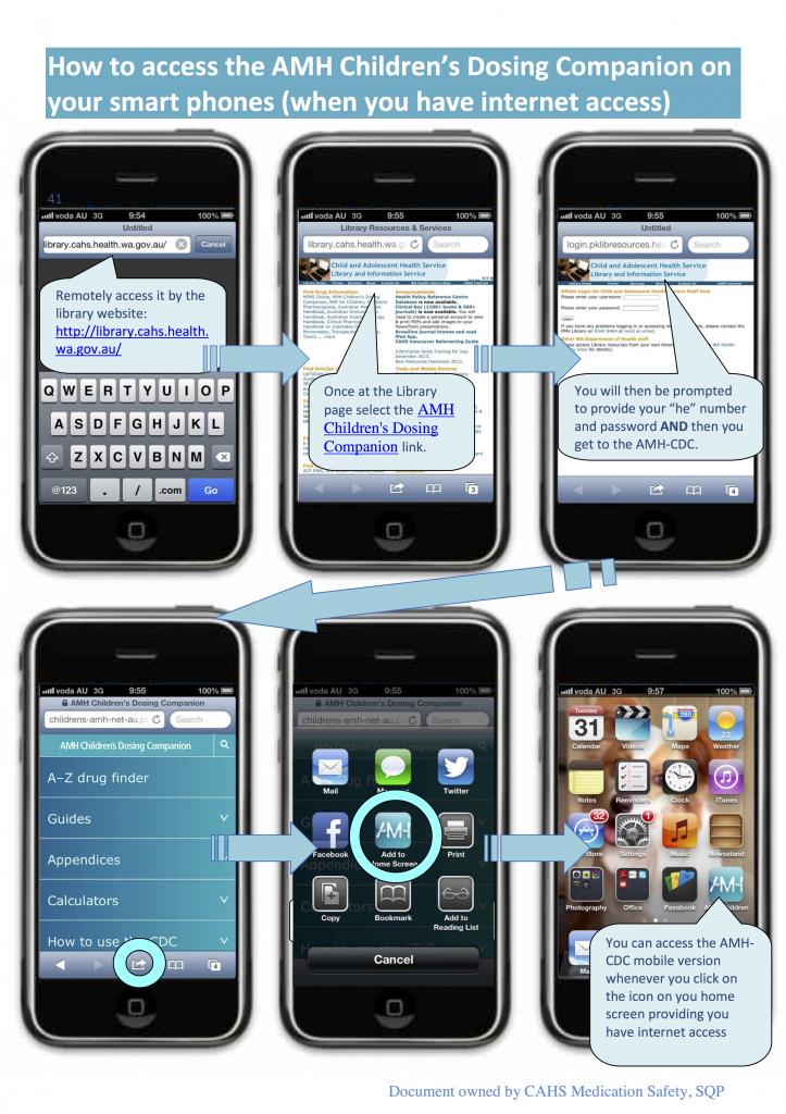 AMH Children's Dosing Companion Smartphone App