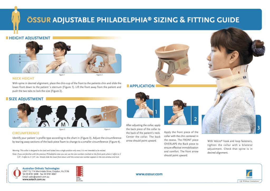 Philadelphia Adjustable Sizing Chart