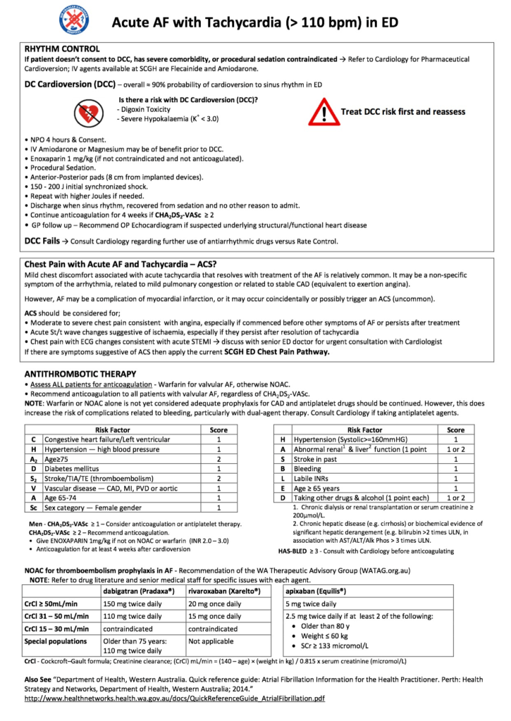 AF with Tachycardia Final Draft SCGH ED Pathway_2
